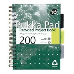 Cheap Stationery Supply of Pukka Recycled Project Book A5 Wirebound Feint Ruled 200 Pages 6051-REC Office Statationery