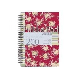 Cheap Stationery Supply of Pukka Jotta Notebook A5 Feint Ruled Red Floral Design 7288-FST Office Statationery