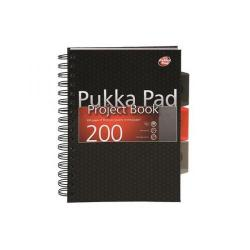 Cheap Stationery Supply of Pukka Black A5 Hardback Project Book Pack of 3 6602-CITY Office Statationery