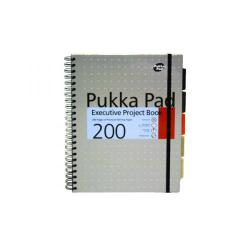 Cheap Stationery Supply of Pukka Pad Executive Ruled Wirebound Project Book A4 (Pack of 3) 6970-MET Office Statationery