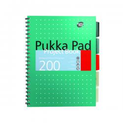 Cheap Stationery Supply of Pukka Pad Metallic Cover Wirebound Project Book B5 (Pack of 3) 8518-MET Office Statationery