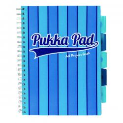 Cheap Stationery Supply of Pukka Pad Vogue Wirebound Project Book A4 Blue (Pack of 3) 8538-VOG Office Statationery