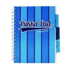Cheap Stationery Supply of Pukka Pad Vogue Wirebound Project Book A5 Blue (Pack of 3) 8540-VOG Office Statationery