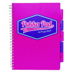 Cheap Stationery Supply of Pukka Pad Vision Wirebound Project Book A4 Pink (Pack of 3) 8609-VIS Office Statationery