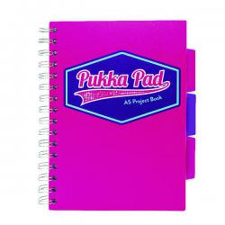 Cheap Stationery Supply of Pukka Pad Vision Wirebound Project Book A5 Pink (Pack of 3) 8611-VIS Office Statationery