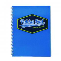 Cheap Stationery Supply of Pukka Pad Vision Wirebound Jotta Pad A4 Blue (Pack of 3) 8614-VIS Office Statationery