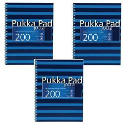 Cheap Stationery Supply of Pukka Pad A4 Jotta Notebook Feint Ruled With Margin 200 Pages Navy/Blue (Pack of 3) 6675-NVY Office Statationery