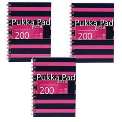 Cheap Stationery Supply of Pukka Pad Jotta A5 Notebook Feint Ruled With Margin 200 Pages Navy/Pink (Pack of 3) 6676-NVY Office Statationery