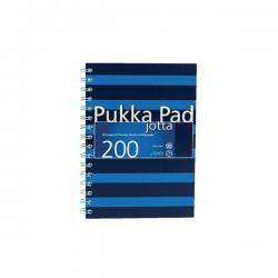 Cheap Stationery Supply of Pukka Pad Jotta A5 Notebook Feint Ruled With Margin 200 Pages Navy/Blue (Pack of 3) 6677-NVY Office Statationery