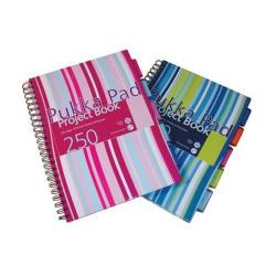 Cheap Stationery Supply of Pukka Pads A4 Project Book Hardback Feint Pack of 3 With FREE Union Jack Jotta Pads PP816907 Office Statationery