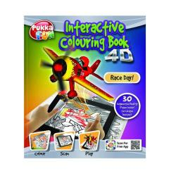 Cheap Stationery Supply of Pukka Fun Interactive Colouring Book 4D Race Day 8420-FUN Office Statationery