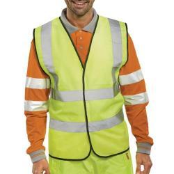 Cheap Stationery Supply of Hi-Viz Vest S/Yellow EN ISO 20471 XL WCENGXL Office Statationery