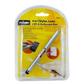 Rolson 4-in-1 Laser Pointer Pen Silver 1230082