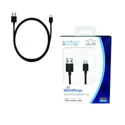 Cheap Stationery Supply of Reviva 3A Twin USB In Car Chrgr + MediaRange Chrg Sync Cbl USB 2.0 to Apple Lightng Bundle REV12502 Office Statationery