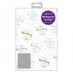 Cheap Stationery Supply of Regent Wedding Gift Wrap and Tag (Pack of 12) F364 Office Statationery