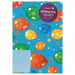 Cheap Stationery Supply of Regent Packaged Wrap Blue Balloons (Pack of 12) F322 Office Statationery