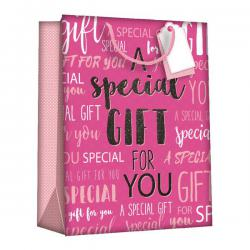 Cheap Stationery Supply of Regent Gift Bags Wordy Pink Large (Pack of 6) Z723L Office Statationery