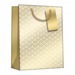 Cheap Stationery Supply of Regent Gift Bags Gold Art DecoMedium (Pack of 6) Z729M Office Statationery