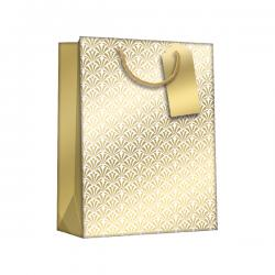 Cheap Stationery Supply of Regent Gift Bags Gold Art Deco Large (Pack of 6) Z729L Office Statationery