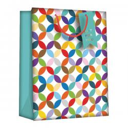 Cheap Stationery Supply of Regent Gift Bags Bright Link Geometric Medium (Pack of 6) Z730M Office Statationery