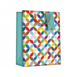 Cheap Stationery Supply of Regent Gift Bags Bright Link Geometric Large (Pack of 6) Z730L Office Statationery
