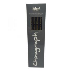 West Design Chinagraph Marking Pencil Black (Pack of 12) RS525653