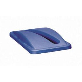 Rubbermaid Slim Jim Bin Lid Paper Blue 2703/R001091
