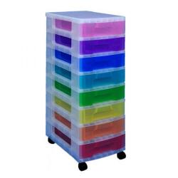 Cheap Stationery Supply of Really Useful Storage Tower With 8 Drawers Multicoloured DT1007 Office Statationery