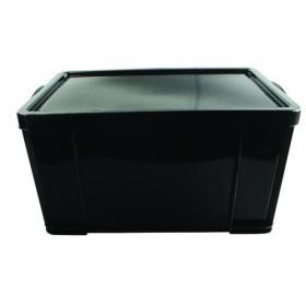 Really Useful 84L Recycled Plastic Storage Box Black 84Black R