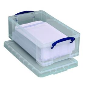 Really Useful 12L Plastic Storage Box With Lid 465x270x150mm C4 Clear 12C