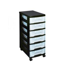 Really Useful Plastic Storage Tower With 6 Drawers Black ST6X7C