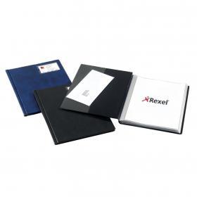 Rexel Nyrex Slimview Display Book 24 Pocket A4 Black 10015BK
