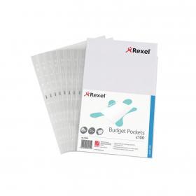 Rexel Essential Pocket A4 in Dispenser Embossed (Pack of 100) 11000