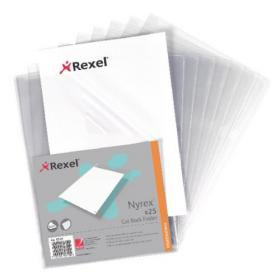 Rexel Nyrex Cut Back Folder A4 Clear (Pack of 25) GFA4 12121