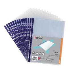 Cheap Stationery Supply of Rexel Nyrex Pocket PVC Open Top A4 Clear (Pack of 25) NPRA4 12233 Office Statationery