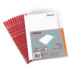 Cheap Stationery Supply of Rexel Nyrex Pocket PVC Open Side Foolscap Clear(Pack of 25)R149L 12263 Office Statationery