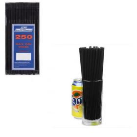 Caterpack Black Flexi Drinking Straws (Pack of 250) RY00247