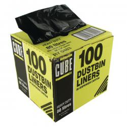 Cheap Stationery Supply of Le Cube Dustbin Liner Dispenser 80 Litre Black (Pack of 100) 0483 Office Statationery