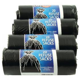 Safewrap Refuse Sack 92 Litre Black (Pack of 80) 0446