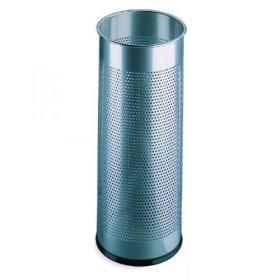 Umbrella/Waste Bin Perforated Silver 310253