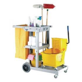 Multipurpose Janitorial Trolley Grey 101272