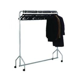 Cheap Stationery Supply of Silver Garment Hanging Rail With 30 Hangers 316939 Office Statationery