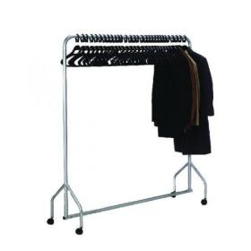 Silver Garment Hanging Rail With 30 Hangers 316939