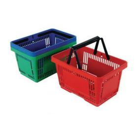 Plastic Shopping Basket Red (Pack of 12) 370768.