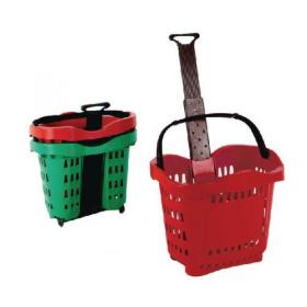 Giant Shopping Basket/Trolley Red SBY20753