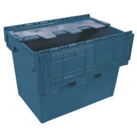 Blue 75 Litre Eurobox With Cover (600 x 400 x 440mm) 388096
