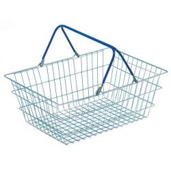 Cheap Stationery Supply of Wire Shopping Baskets Pack of 5 (Zinc coated wite, polythene handles) Office Statationery