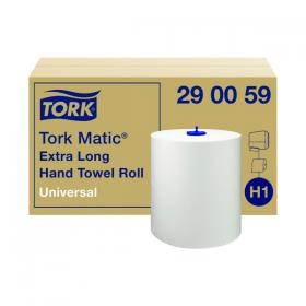 Tork Matic Hand Towel H1 White 280m (Pack of 6) 290059