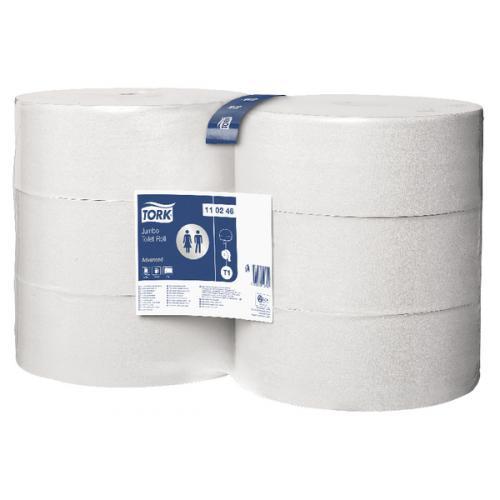 Tork White Jumbo Toilet Roll 1700 Sheets 340m Pack of 6 110246