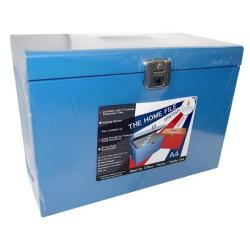 Cheap Stationery Supply of Cathedral A4 Metal File Box Blue A4Bl A4BL Office Statationery